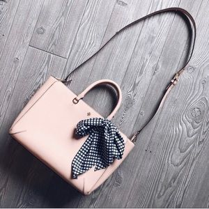 Tory Burch Robinson Emerson Zip Top Tote Pale Pink